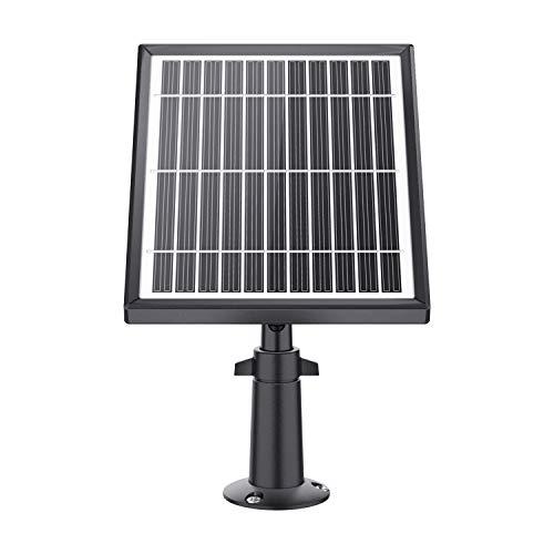 ZOSI Outdoor Solarpanel 5V Ladegerät mit 4 Meter USB Ladekabel und einstellbar Halterung für Außen Akku Kamera, Wetterfest