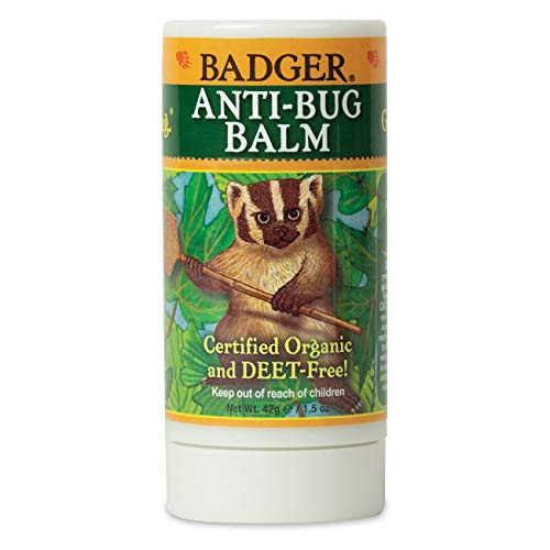 Badger - Anti-Bug Balm Stick, DEET-Free Mosquito Repelling Balm Stick, Badger Balm Bug Repellent Stick, Certified Organic Insect Repellent, 1.5oz