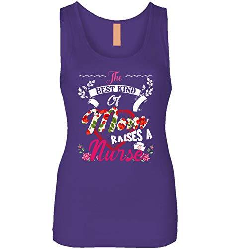 The Best Kind of Mom Raises A Nurse Tank Top - Nursing Mom Tank Top (Purple - L)
