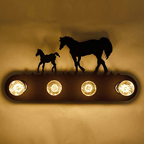 DHRH Lámpara de Pared LED para Interiores Moderna, portalámparas de Pared Vintage, lámparas de Pasillo con Pantalla de Hierro Vintage