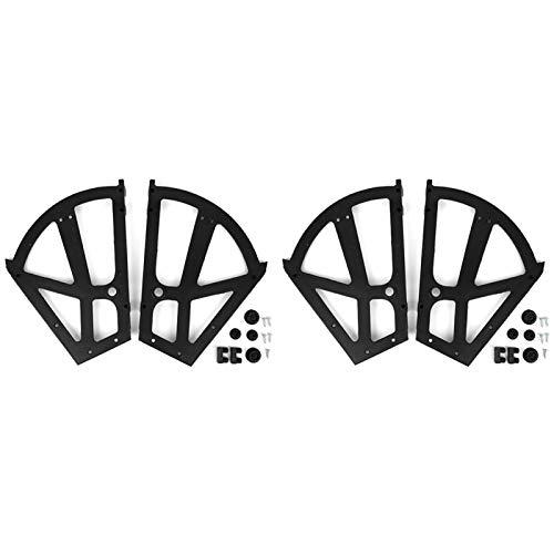 Hapivida 4 Unids/Set Zapatos Bisagra de Gabinete Forma de Ventilador 2 Capas Bisagras de Cajón ABS Marco de Placa Abatible Rack Giratorio Accesorios de Repuesto para Cocina Sala de Estar Porche