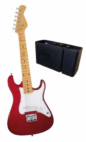 "Ready Ace 31"" Electric Guitar with 3 Watt Amplifier, Red (EG-31AMP-3)"
