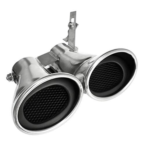 Basage Auto Edelstahl End Rohr Endschall D?Mpfer für Mercedes C Class W203 C240 C320
