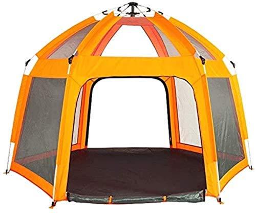 DIMPLEYA Automatische Pop-up Zelte, Für 6 Personen Sofort Tragbare Cabana Strand Wandern Für Schutz Camping - Tent Uvschutzsun Beach 240x240x160cm,gelb