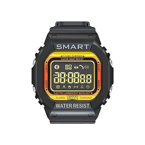 HZZ Deportes Al Aire Libre Luminosos Inteligentes Reloj Impermeable, Rastreador Par La Salud, Podómetro, Bluetooth, Función De Análisis del Sueño, Compatible con Los Teléfonos Android Y iOS,Naranja