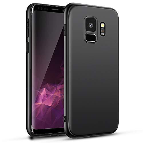 Agedate Hülle für Samsung Galaxy S9 Handyhülle Schwarz Samsung Galaxy S9 Schutzhülle Stoßfest, Kratzfest, TPU-Material mit Samsung Galaxy S9 Case Cover, Black