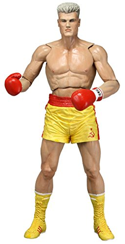 NECA Rocky 40Th Anniversary Series 2 Drago Scale Action Figure(Yellow Trunks Version), 7