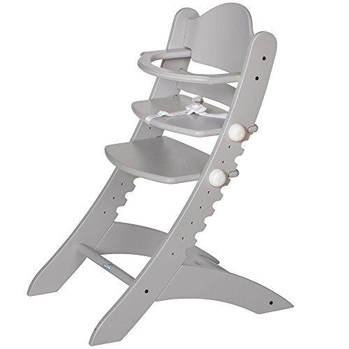 Geuther, Chaise haute Swing, évolutive, Gris clair, Hêtre massif