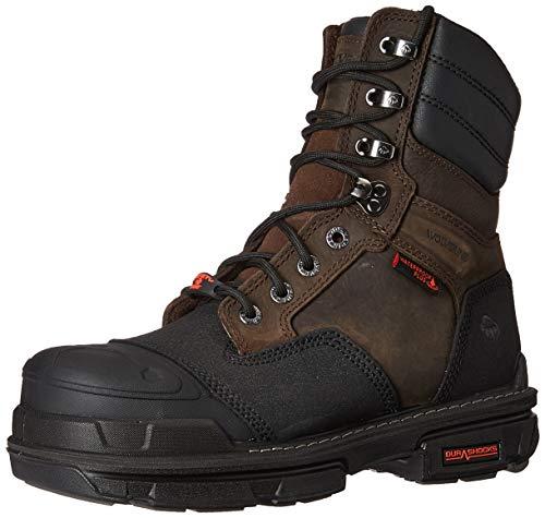"Wolverine Men's 8"" Yukon Construction Boot, Coffee Bean, 13.0 Extra Wide US"