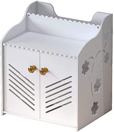 WiFi-routerfäste Set-top Box Flytande väggmonterad hylla Router Förvaringsbox Hem- och kontors WiFi-router Justerbar kabelbox (Co