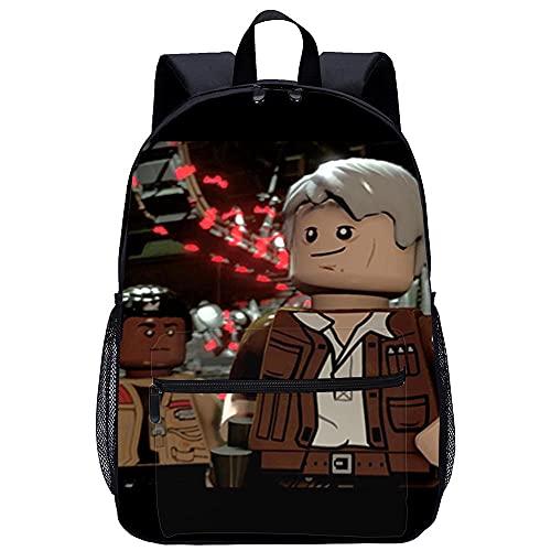 Yebaihe Zaino Stampa 3D Zaino per Bambina-LEGO Star Wars Il Risveglio della Forzada viaggio unisex di moda Borsa da scuola-Dimensioni: 45x30x15 cm/17 pollici-Zaino Studenti