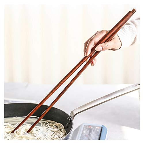 42 cm lange Holzstäbchen zum Kochen, extra lange wiederverwendbare japanische Holzstäbchen für Hot Pot, Nudeln, Frittieren, Kochen, Rührei, 10 Paar-B