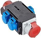 Bachmann 349.029 CEE-Adapter Stecker und 1xCEE Steckdose, Schwarz/Rot/Blau