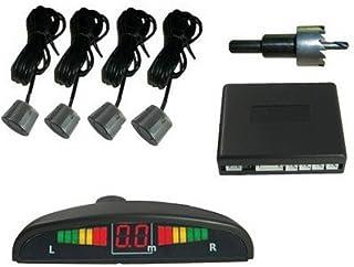 Detector radar sensores estacionamiento Parking del coche que invierte el zumbador y LED Sensores, 4 detector de seguridad