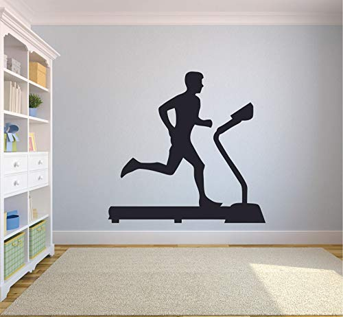 Tianpengyuanshuai Loopband muur sticker fitness loper silhouet vinyl decoratie sticker tiener slaapkamer gym decoratie