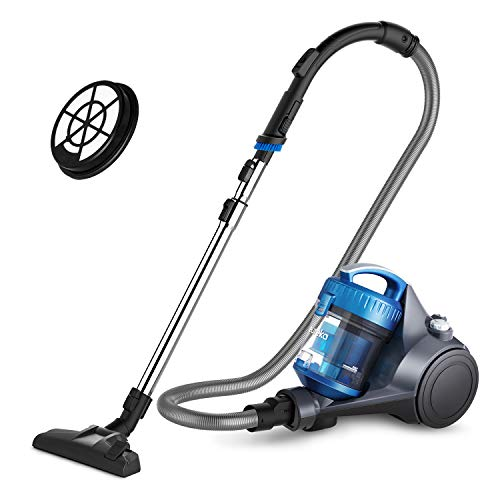 Eureka NEN110B Whirlwind Bagless Canister Cleaner, Lightweight Corded Vacuum for Carpets and Hard Floors, w/Filter, Blue