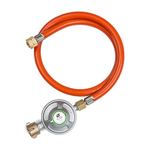 Klarstein Gasschlauch + Druckminderer, Zubehör/Ersatzteil für Gasgrills, Flüssiggasregulierer Typ A310i / A300i, 50 mBar, 1/2
