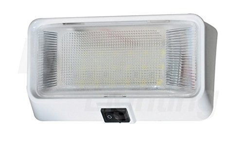 Pilotlights.net LED Porch Light with Switch - Interior Exterior Light 12V - Waterproof - RV, Truck, Trailer, Automobile or Utility LED Lamp 300 Lumens
