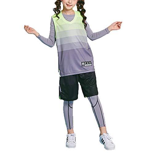 HEYIHUI Kinder Bekleidung Teamsport Doubleface Trikot Set Basketballanzug Anzug Fußball-Kit Fußball Kleidung Basketball Uniformen Basketballuniform
