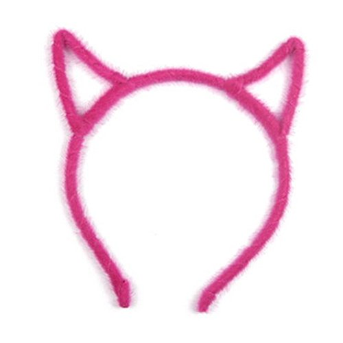 Élégant bandeau de cheveux bande Hairband pour les femmes, Rose rouge