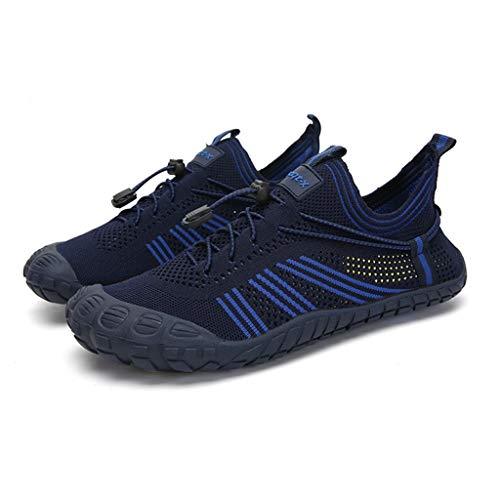 Zapatos de agua de malla para hombres y mujeres zapatos de playa transpirables para mujer al aire libre zafado zapatos a la deriva de secado rápido Calcetines De Agua ( Color : Blue , Size : 38EU )