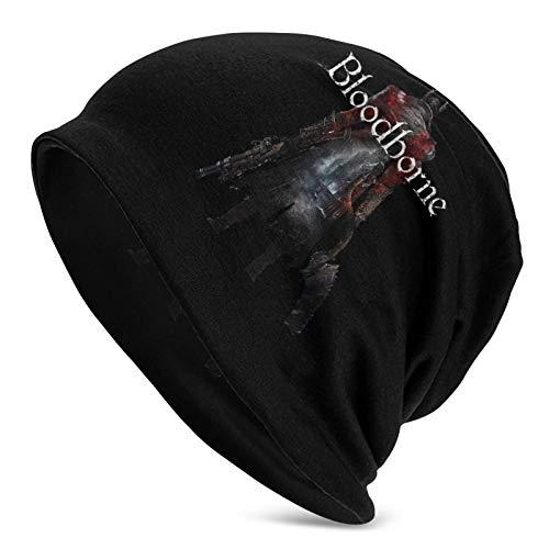 IUBBKI Bloodborne Logo Unisex Adulto Knit Hat Gorro de Invierno Gorro de Lana Caliente Slouchy Daily Beanie Hat