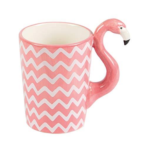 Sass & Belle Flamingo Chevron Tasse Becher rosa pink weiß