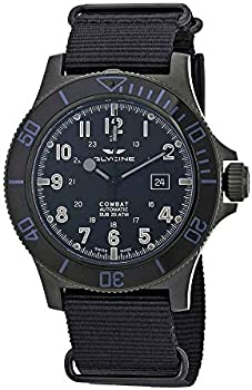 Glycine Combat SUB Automatic Black Dial Men's Nylon Watch