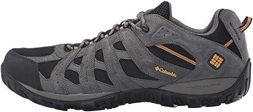 Columbia Men's REDMOND WATERPROOF Hiking Shoe, Black, Squash, 10 D US