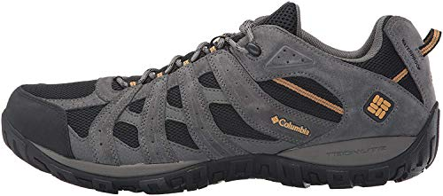Columbia Men's REDMOND WATERPROOF Hiking Shoe, Black, Squash, 10 D US