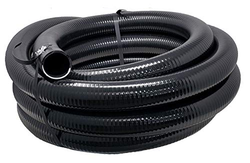 Sealproof Flexible PVC Pipe 2 Inch Dia Hose 25 FT Length, Black Tubing, Schedule 40, Premium Quality Made in USA