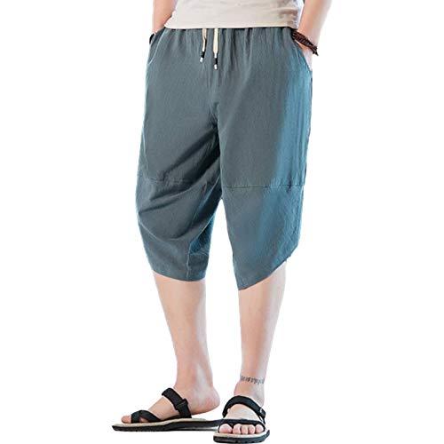 Pantalones de chándal Informales de Verano para Hombre, Pantalones de chándal con cordón elástico de Color sólido, Pantalones Harem de Hip Hop Ajustados, con Bolsillo 3XL