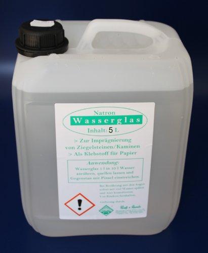 Wasserrose® 5 L (1L=4,19€) KANISTER Natron WASSERGLAS ABBEIZEN IMPRÄGNIEREN KLEBEN KORROSIONSSCHUTZ Made IN Germany