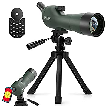 Emarth 20-60x60AE 45 Degree Angled Spotting Scope with Tripod Phone Adapter Carry Bag Scope for Target Shooting Bird Watching Hunting Wildlife