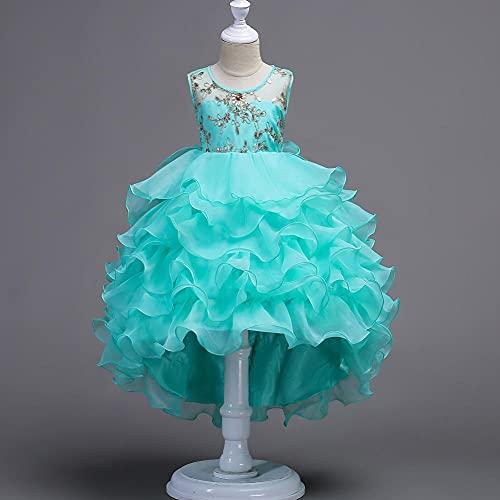 Vestido defantasia de fantasia, Vestido saia bordado rabo bronzeado - verde_150cm,Vestido de baile de formatura princesa pageant
