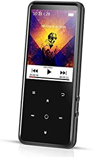 AGPTEK 16GB MP3 Player Bluetooth 4.0 with 2.4 Inch TFT Color Screen, FM/Voice Recorder Lossless Sound Metal Music Player, ...