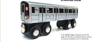 Munipals Wooden Railway NYC Subway Car M