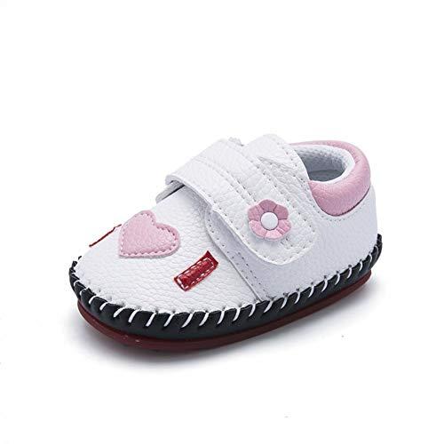 XYAN Zapatos Otoño 0-1 años bebé varón y Hembra niño de Goma Suave Suela Antideslizante Cinta Mágica (Color : Blanco, Size : 12cm)