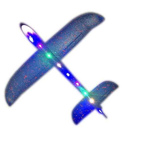 Lizefang Avión de Espuma de Lanzamiento Lanzar Juguetes de avión Planeador con Dibujos Animados Ligeros de Bricolaje para niños niñas de 3 a 12 años Regalo avión de Recuerdo de Fiesta gaudily