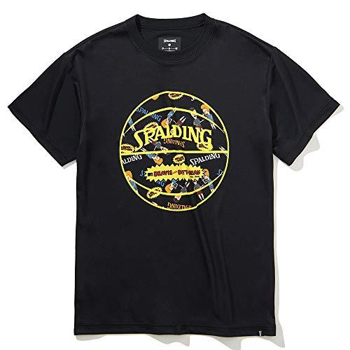 SPALDING(スポルディング) バスケットボール Tシャツ ビーバスアンドバットヘッド ボールプリント SMT201590 ブラック Sサイズ バスケ バスケット