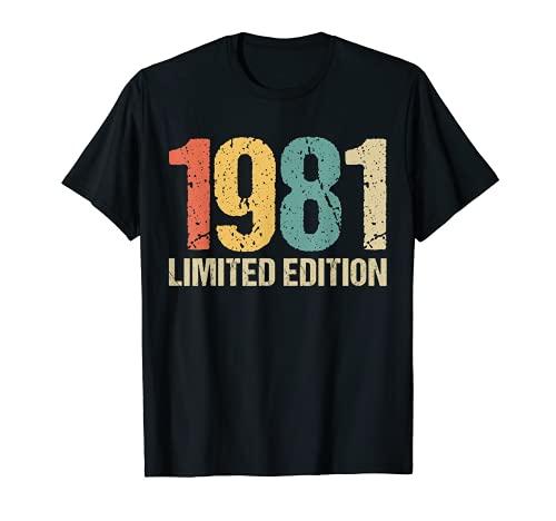 40 Años Cumpleaños Chico Chica Regalo Deco Divertido 1981 Camiseta