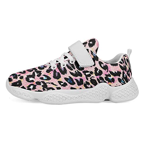 YxueSond Luipaard Print Ademende Casual Sport Schoenen Veterschoenen Sneakers Tennis Hardlopen Trainingsschoenen/Schoeisel Voor Kinderen