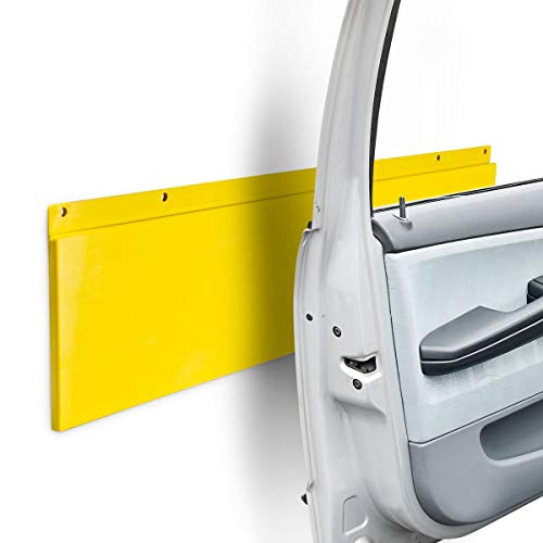 Relaxdays 10017181 Türkantenschutz für Garage und Autotür, Kunststoff, H x B x T: 64 x 17,5 x 2 cm, gelb