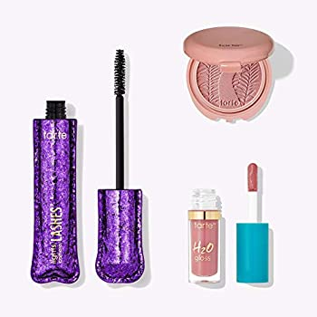 TARTE Party Time Trio Color Collection  Lights Camera Lashes 4-In-1 Mascara H2O Gloss Lip Gloss & Paaarty Blush