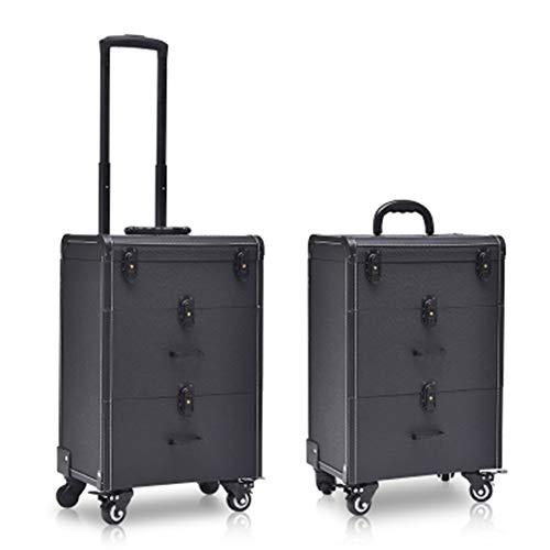 Boîte À Outils De Coiffure De Mode Nail Technician Trolley Case Cosmétiques Beauty Trolley Box Travel Makeup Case Storage Box,B