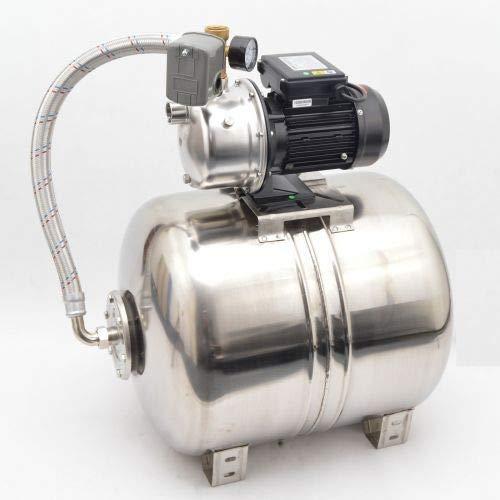 Hochwertiges INOX 100L Edelstahl Hauswasserwerk Pumpe IBO IWH 2-03 750W 4,5 bar Fördermenge: 4200l/h mit Druckschalter inkl. Trockenlaufschutz.