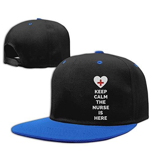 Adgjhbvn Unisex Baby Boy Baseball Cap Keep Calm Nurse Cotton Hip Hop Hat Gorras de Hip Hop de béisbol