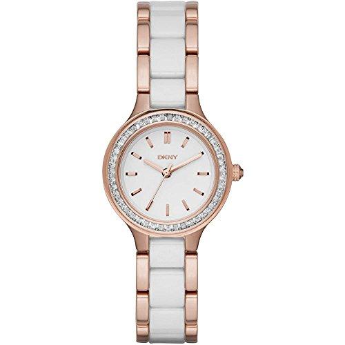 DKNY Damen Analog Quarz Uhr mit Edelstahl Armband NY2496