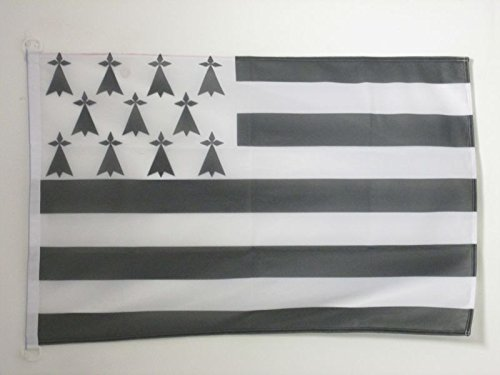 AZ FLAG Bandera de BRETAÑA 150x90cm Uso Exterior - Bandera DE Bretagne - Francia 90 x 150 cm Anillos