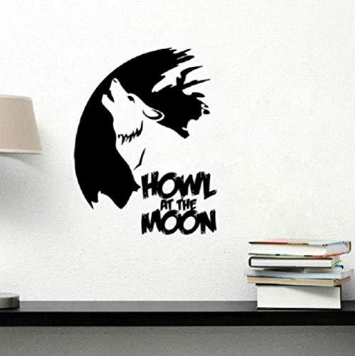 Vinilo Cool Wolf - Adhesivo decorativo para pared, diseño de lobo tallado